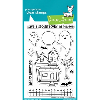 Lawn Fawn HAPPY HAUNTING Clear Stamps