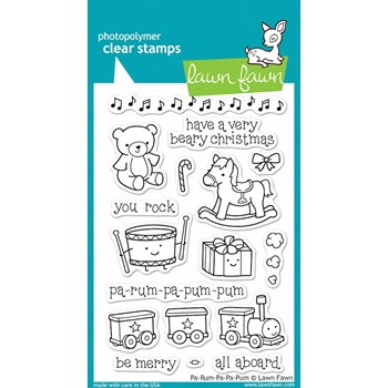 Lawn Fawn PA-RUM-PA-PUM-PUM Clear Stamps*
