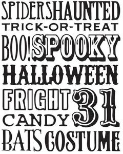 Tim Holtz Rubber Stamp HALLOWEEN WORDS Stampers Anonymous X1-1753