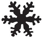 Tim Holtz Rubber Stamp SNOWFLAKE SILHOUETTE