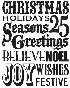 Tim Holtz Rubber Stamp CHRISTMAS WORDS Stampers Anonymous X1-1763 zoom image
