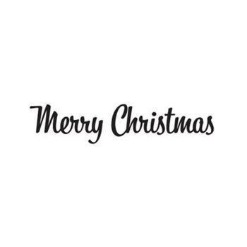 Tim Holtz Rubber Stamp RETRO MERRY CHRISTMAS Stampers Anonymous