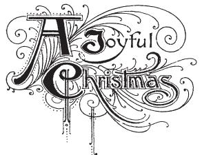 Tim Holtz Rubber Stamp JOYFUL Stampers Anonymous M4-1771 Preview Image