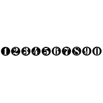 Tim Holtz Rubber Stamp CIRCLE NUMBERS Stampers Anonymous U6-1781