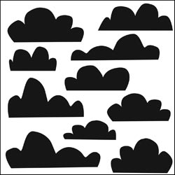 The Crafter's Workshop MINI CLOUDS 6 x 6 Template TCW230s