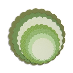 Sizzix Framelits SCALLOP CIRCLES Wafer Thin Die Set 657552 Preview Image
