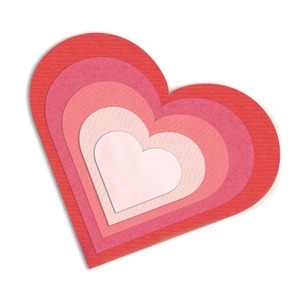 Sizzix Framelits HEARTS Wafer Thin Die Set 657561 Preview Image
