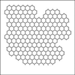 The Crafter's Workshop MINI CHICKEN WIRE 6 x 6 Template TCW239s zoom image