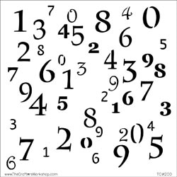 The Crafter's Workshop MINI NUMERALS 6 x 6 Template zoom image