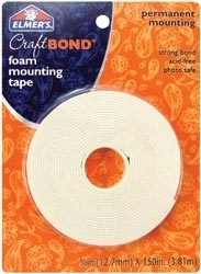 Elmer's CRAFT BOND Foam Mounting Tape Permanent Adhesive