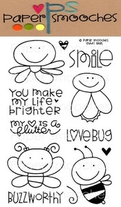 Paper Smooches GIDDY BUGS Clear Stamps Kim Hughes Preview Image