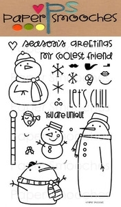 Paper Smooches SWANKY SNOWDUDES Clear Stamps Kim Hughes