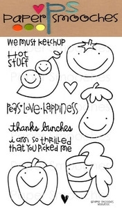 Paper Smooches VEGTASTIC Clear Stamps Kim Hughes