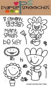 Paper Smooches PERKY PLANTS Clear Stamps Kim Hughes
