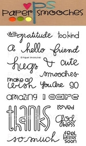 Paper Smooches CHIT CHAT Clear Stamps Kim Hughes* Preview Image