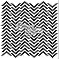 The Crafter's Workshop MINI CHEVRON 6 x 6 Template TCW227s
