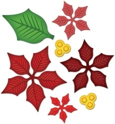 S5-055 Spellbinders LAYERED POINSETTIA Dies Preview Image