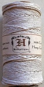 Hemptique White Cord Twine