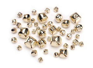 Darice GOLD 43 ASSORTED SIZES JINGLE BELLS Charms 1090-61 zoom image