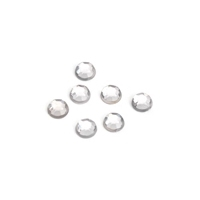 Darice 8mm 120Ct Rhinestones Round CRYSTAL Clear White 1811-33