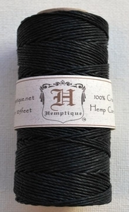 Hemptique Black Hemp Cord Twine