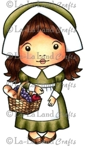 La-La Land Crafts Cling Stamp PILGRIM MARCI Rubber Unmounted 5079 zoom image