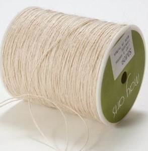 May Arts IVORY Twine String Burlap zoom image