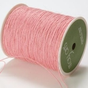 May Arts PINK Twine String Burlap zoom image