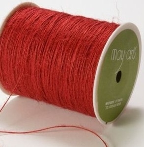 May Arts Red String Burlap