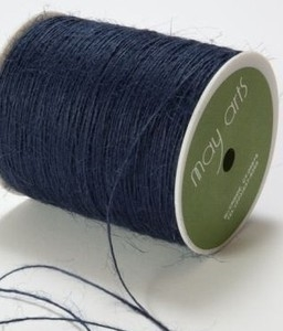 May Arts NAVY Twine String Burlap*