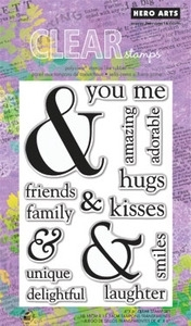 Hero Arts Clear Stamps YOU & ME CL567 zoom image
