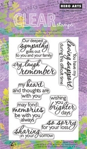 Hero Arts Clear Stamps REMEMBER CL577