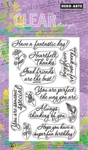 Hero Arts Clear Stamps GOOD FRIENDS CL578