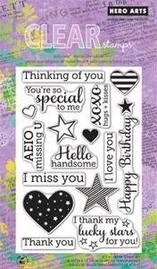 Hero Arts Clear Stamps YEAR ROUND SENTIMENTS CL582 OWH