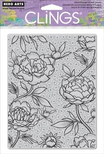 Hero Arts Cling Stamp LARGE FLOWER BACKGROUND Rubber Unmounted CG403