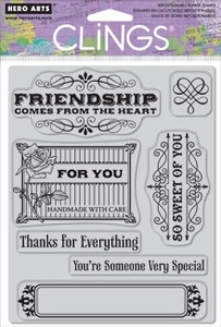 Hero Arts Cling Stamps VERY SPECIAL Rubber Unmounted CG406 Preview Image