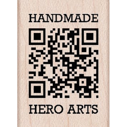 Hero Arts HANDMADE QR Code Rubber Stamp A5552 Preview Image