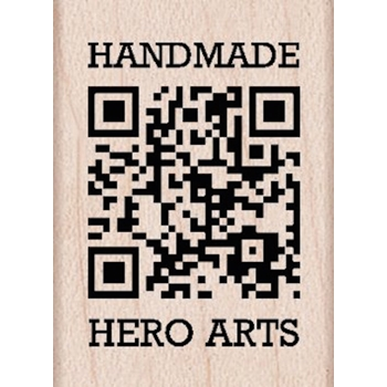 Hero Arts HANDMADE QR Code Rubber Stamp A5552