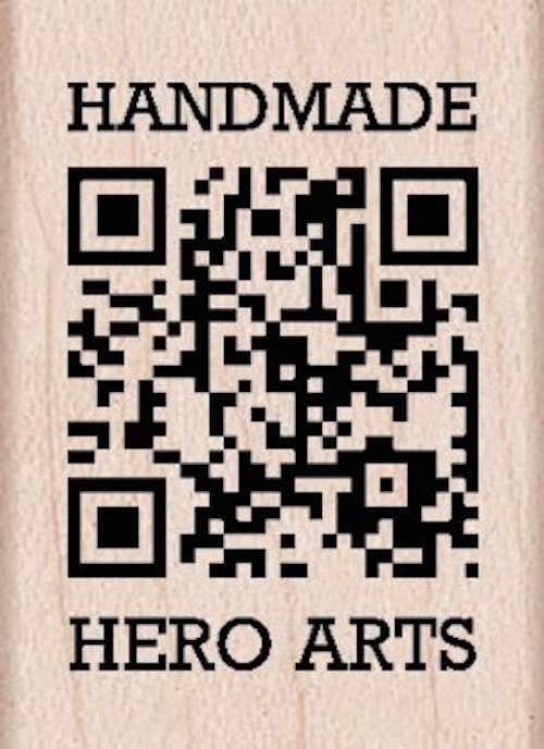 Hero Arts HANDMADE QR Code Rubber Stamp A5552 zoom image