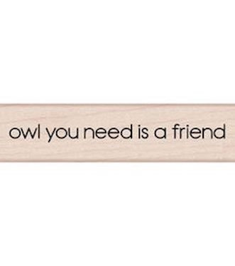 Hero Arts NEED A FRIEND Rubber Stamp C5575 zoom image
