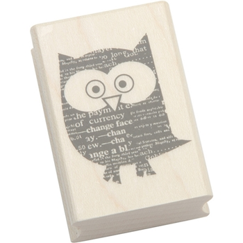Hero Arts NEWSPAPER OWL Rubber Stamp D5562