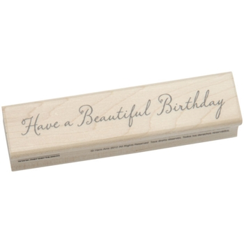 Hero Arts BEAUTIFUL BIRTHDAY Rubber Stamp F5578
