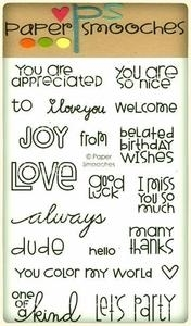 Paper Smooches WORD SALAD Clear Stamps Kim Hughes