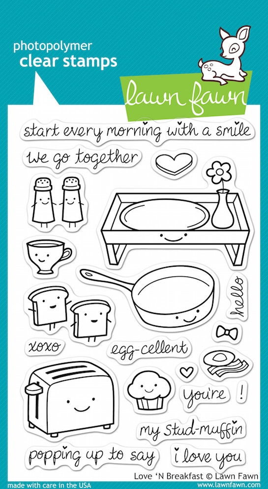 Lawn Fawn LOVE 'N BREAKFAST Clear Stamps zoom image