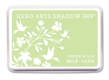 Hero Arts Shadow Ink Pad GREEN HILLS Mid-Tone AF209 Preview Image