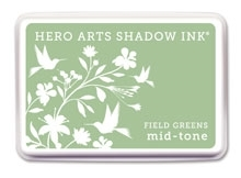 Hero Arts Shadow Ink Pad FIELD GREENS Mid-Tone AF210 Preview Image