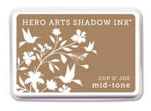 Hero Arts Shadow Ink Pad CUP O' JOE Mid-Tone AF214