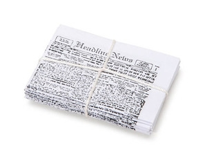 Darice NEWSPAPER BUNDLE Timeless Minis 2318-49*