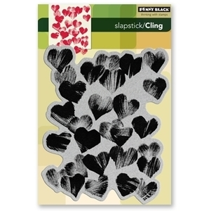 Penny Black Cling Stamp HEARTS ALL OVER 40-094 Rubber Unmounted zoom image