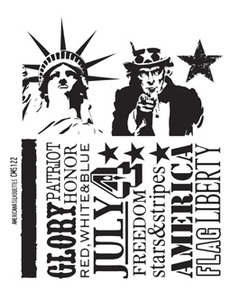 Tim Holtz Cling Rubber Stamps AMERICANA SILHOUETTES cms122 Preview Image